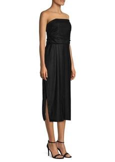 Shoshanna Oxford Strapless Dress