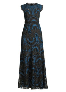 Shoshanna Raven Macramé Lace Gown