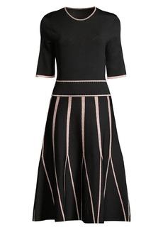Shoshanna Renza Metallic Knit Midi Dress