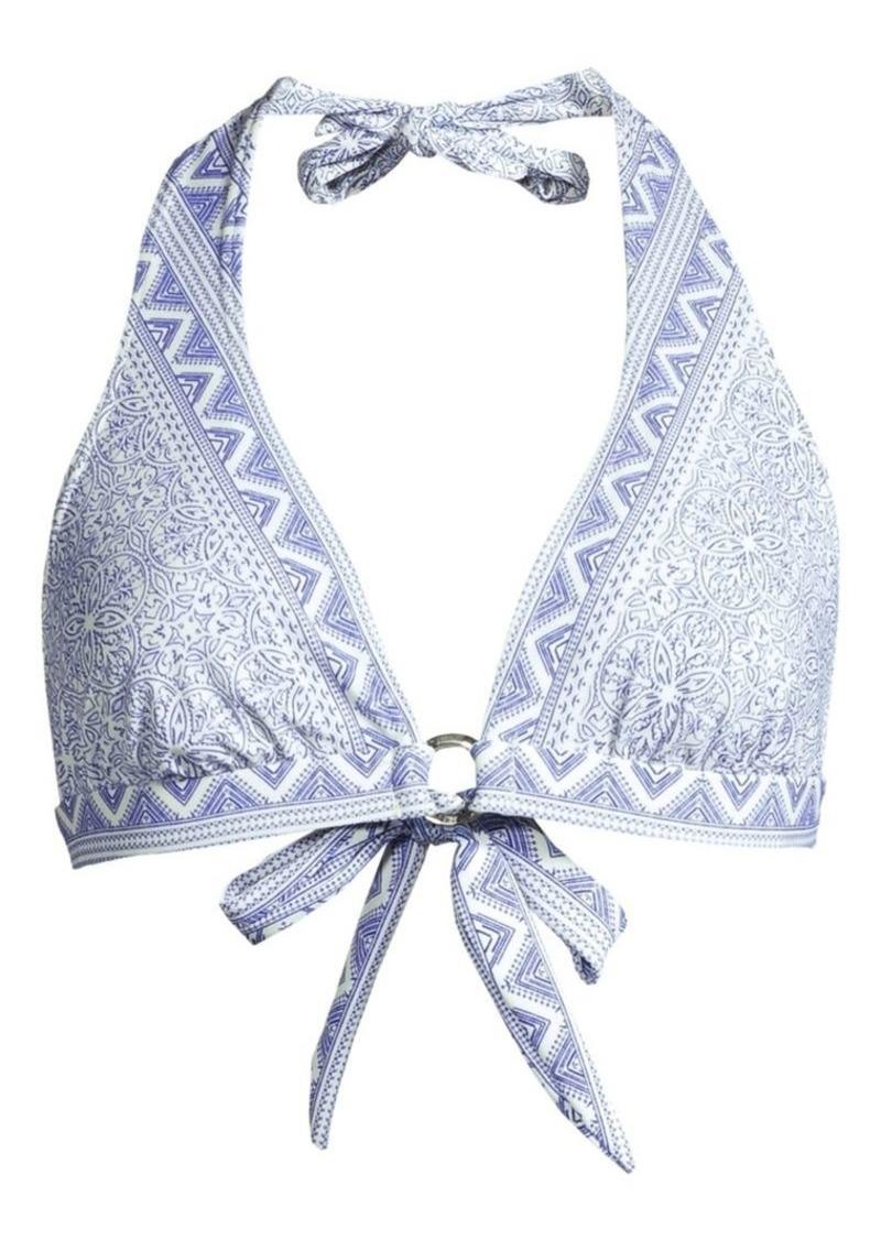 Shoshanna Ring Halter Bikini Top