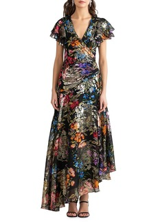 Shoshanna Roxana Asymmetrical Silk-Blend Dress