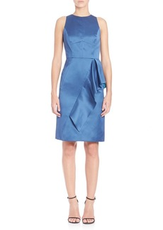 Shoshanna Ruffle Sheath Dress