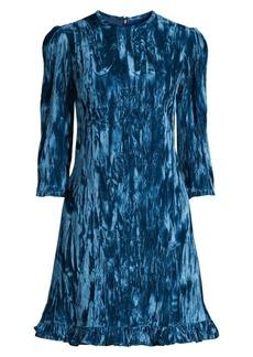 Shoshanna Rula Crushed Velvet A-Line Dress