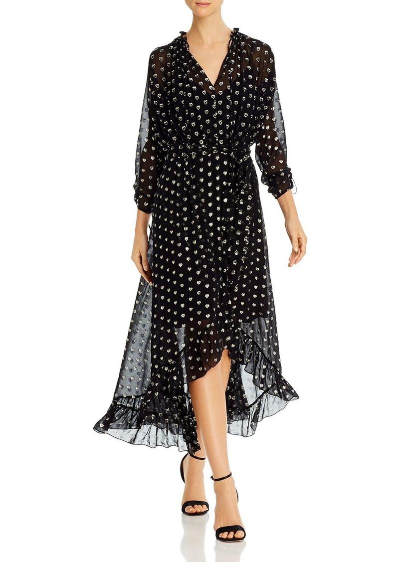 Shoshanna Alena Metallic Embroidered Dress