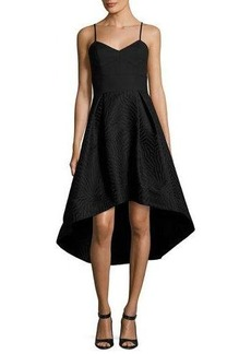 Shoshanna Ashbury Crepe & Jacquard High-Low Cocktail Dress