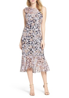 Shoshanna Barlett Lace Midi Dress