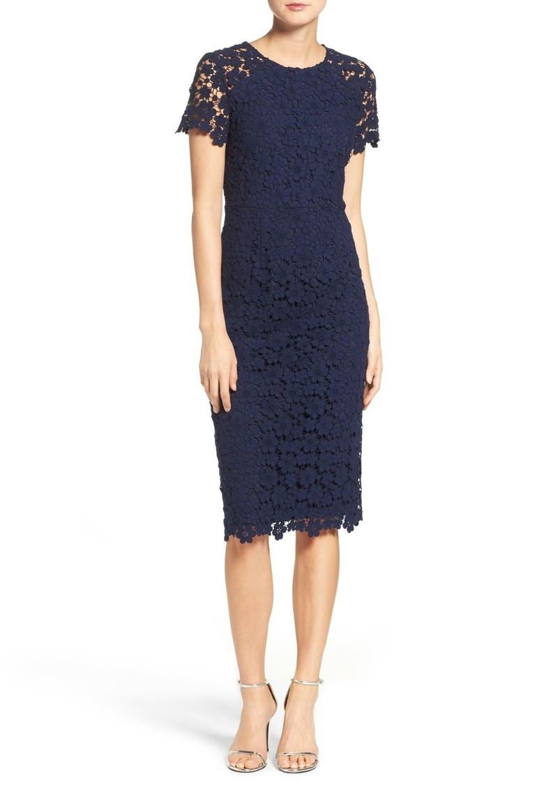 83106d32fd3 Shoshanna Shoshanna Beaux Lace Midi Dress