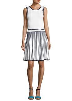 Shoshanna Bernadette Sleeveless Two-Tone Stretch Dress