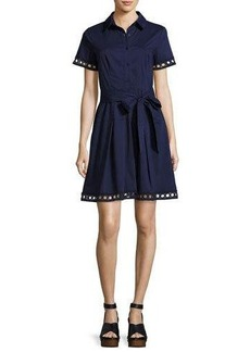 Shoshanna Bertha Belted Eyelet Shirtdress