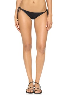 Shoshanna Black Solid Clean String Bikini Bottoms