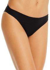 Shoshanna Black Tide Jacquard Bikini Bottom