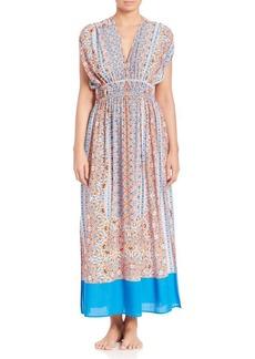 Shoshanna Boho Draw-Sleeve Maxi Dress