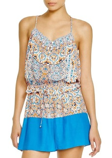 Shoshanna Boho Medallion Romper Swim Cover Up