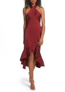 Shoshanna Boswell High/Low Halter Dress