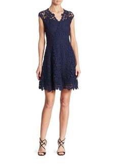 Shoshanna Buchanan Cotton Lace Fit-&-Flare Dress