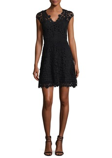 Shoshanna Buchanan Lace V-Neck Mini Dress