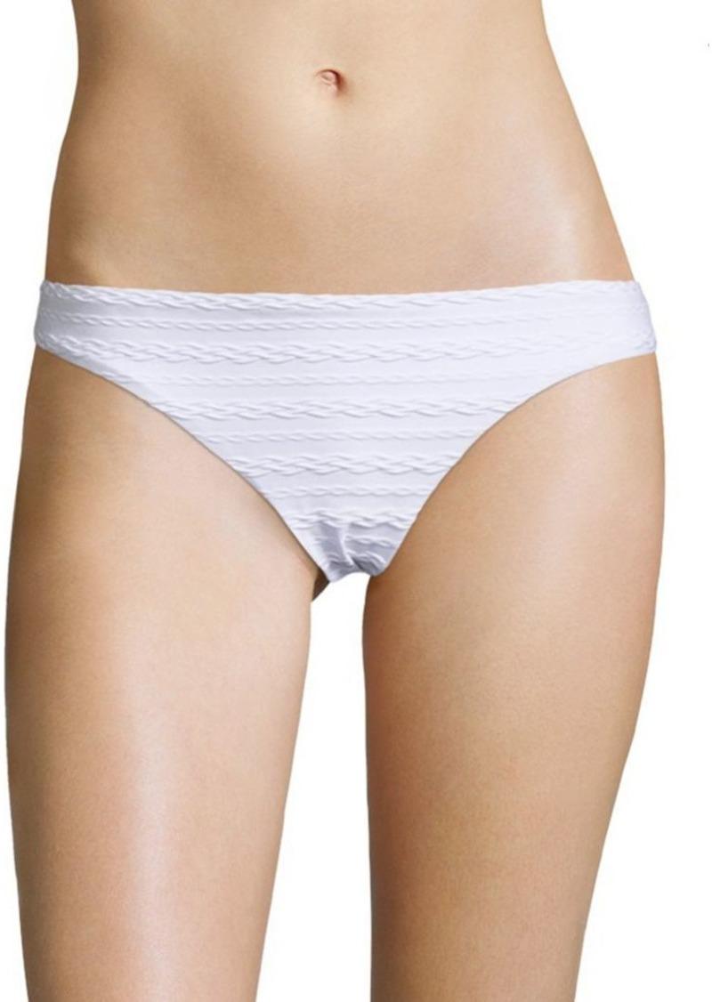 Shoshanna Cable Patterned Bikini Bottom