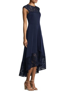 Shoshanna Cap Sleeve Lace Hi-Lo Dress