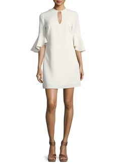 Casmaliia Trumpet-Sleeve Mini Dress