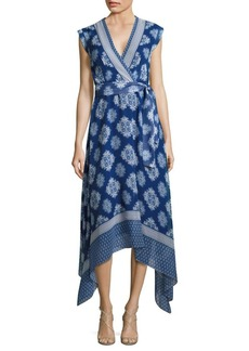Shoshanna Catrina Asymmetric Print Wrap Dress