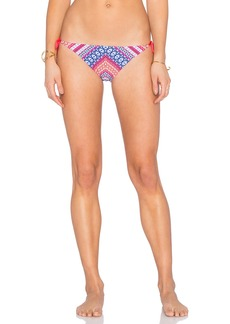 Shoshanna Chevron Tapestry String Bikini Bottom