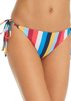 Shoshanna Clean Triangle Rainbow Stripe Bikini Bottom