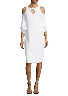 Shoshanna Cold Shoulder Knee-Length Dress
