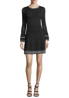 Shoshanna Colinton Long-Sleeve Knit Dress