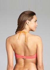Shoshanna coral crocheted nylon underwire ...