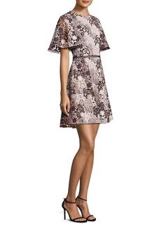 Crochet Lace Fit-&-Flare Dress