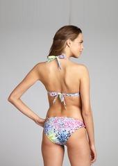 Shoshanna dot print stretch woven bikini b...