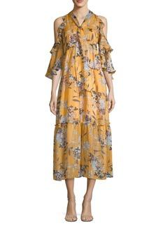 Elena Floral Silk Dress