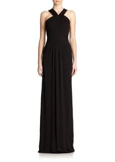 Shoshanna Elle Jersey Halter Gown