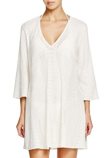 Shoshanna Eyelet Tunic Swim Cover Up