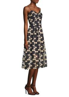 Shoshanna Floral Lace A-Line Dress
