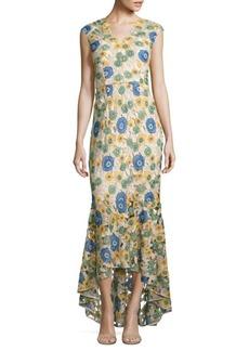 Shoshanna Floral Lace Hi-Lo Gown