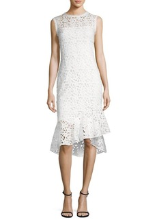 Shoshanna Floral Lace Midi Dress