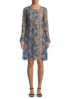 Shoshanna Floral Long-Sleeve Dress