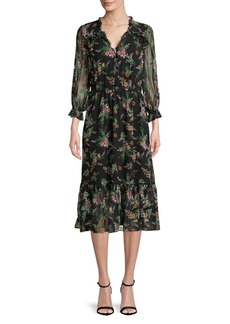 Shoshanna Floral Silk Dress