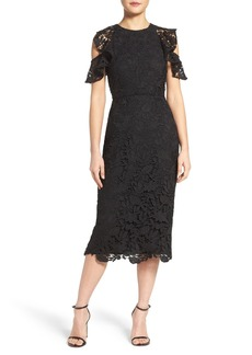 Shoshanna Florentine Guipere Lace Sheath Dress