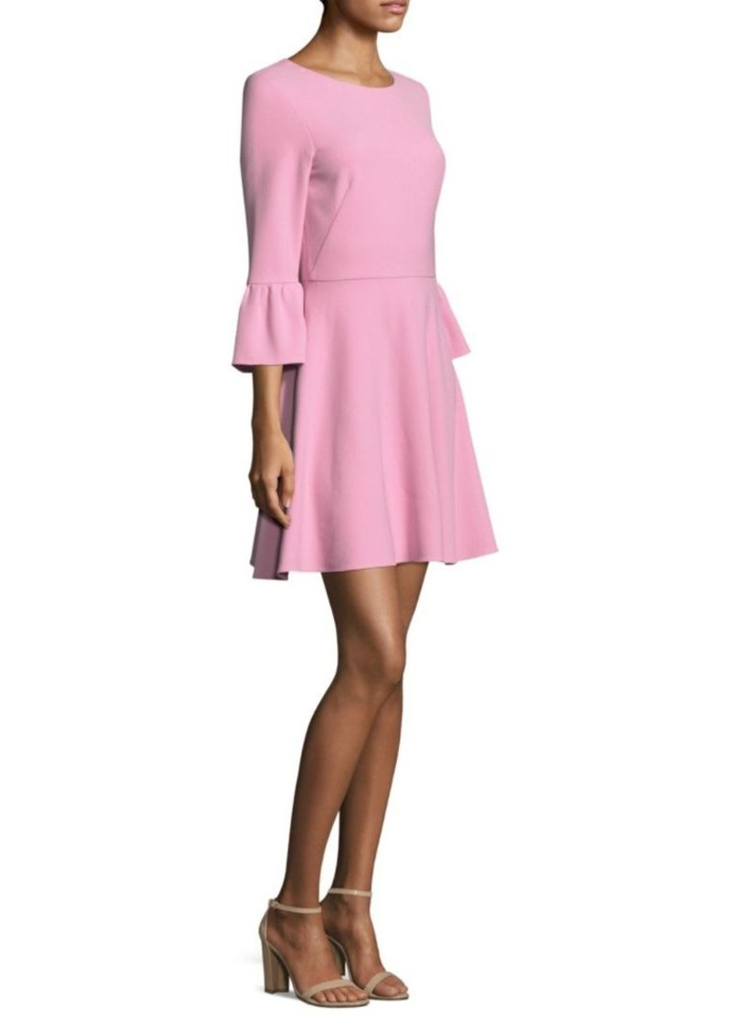 Shoshanna Bell-Sleeve Crepe Dress
