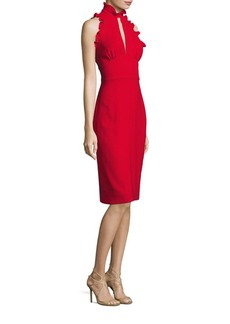 Shoshanna Giana Ruffle Sheath Dress