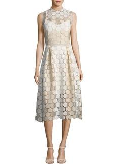 Shoshanna Glengarry Sleeveless Lace Cocktail Dress