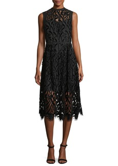 Shoshanna Glengarry Sleeveless Lace illusion Cocktail Dress
