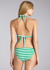 Shoshanna green and white stripe stretch n...
