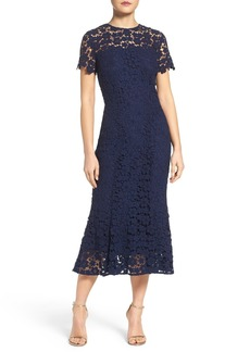 Shoshanna Guipure Lace Midi Dress