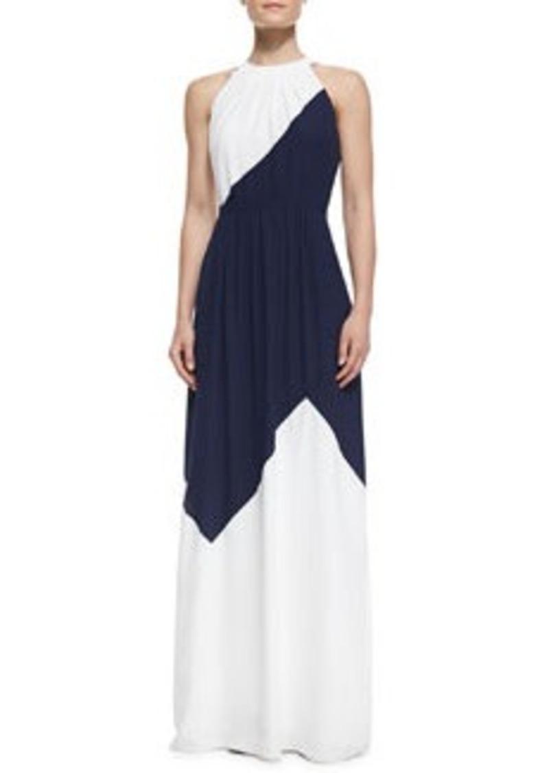 Shoshanna Halter Combo Maxi Dress