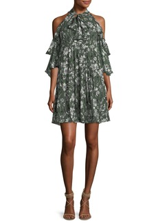Hana Floral Cold-Shoulder Dress