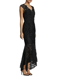 Shoshanna Hi-Lo Mermaid Lace Gown