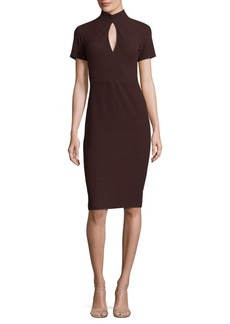 Shoshanna High Neck Keyhole Dress